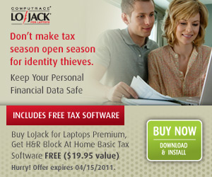 Buy LoJack for Laptops Premium and receive H&R Blo